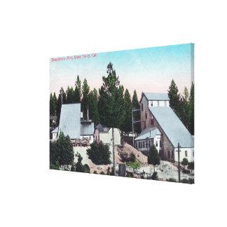 Vista exterior de la mina de Pennsylvania Lona Envuelta Para Galerías