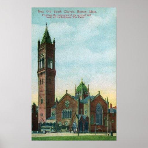 Vista exterior de la nueva iglesia del sur vieja posters