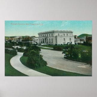 Vista exterior de la terraza de Presidio Poster
