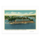 Vista exterior de los mil yates de la isla tarjetas postales