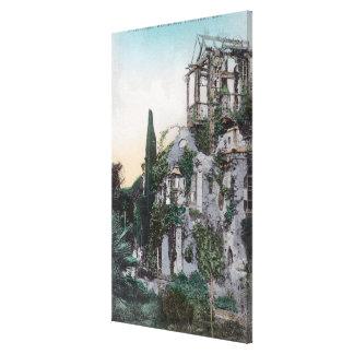 Vista exterior de una residencia pintoresca lienzo envuelto para galerías