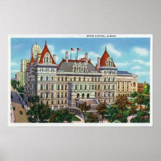Vista exterior del capitolio del estado posters