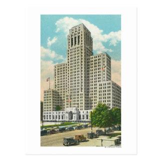 Vista exterior del edificio de la oficina del tarjeta postal