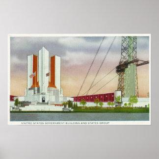 Vista exterior del edificio de los E.E.U.U. Govt Poster