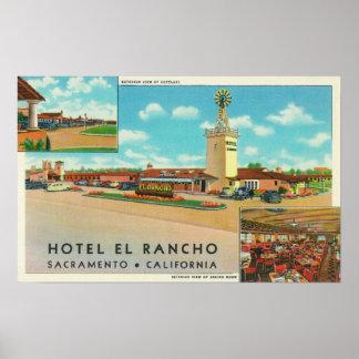 Vista exterior del EL Rancho del hotel Poster