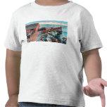 Vista exterior del embalaje de la sardina de Del M Camiseta