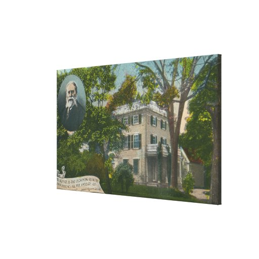 Vista exterior del hogar de James Russell Lowell Impresión De Lienzo