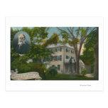 Vista exterior del hogar de James Russell Lowell Postales