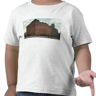 Vista exterior del hotel de los poderes camiseta