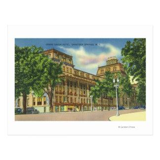 Vista exterior del hotel magnífico de la unión tarjetas postales