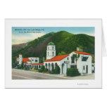 Vista exterior del mesón del motel tarjeta de felicitación