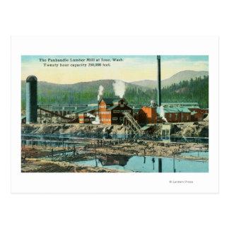 Vista exterior del molino de la madera de postales