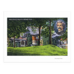 Vista exterior del monumento de Mark Twain # 2 Postal