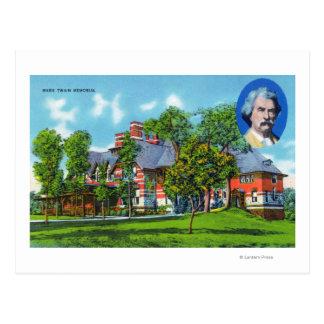 Vista exterior del monumento de Mark Twain Tarjeta Postal