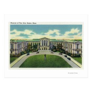 Vista exterior del museo de bellas arte 2 postal