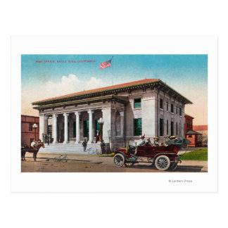 Vista exterior del poste OfficeSanta Rosa CA Tarjeta Postal