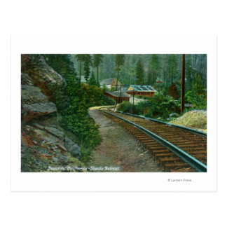 Vista exterior del retratamiento de Shasta de vías Postales