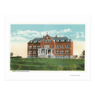 Vista exterior del sanatorio benedictino tarjeta postal