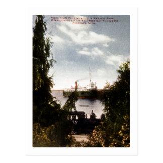 Vista from Pere Marquette Railway Park,Petoskey MI Postcard