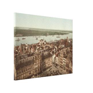 Vista general de Amberes I Bélgica Lienzo Envuelto Para Galerías
