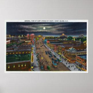 Vista general de la avenida de la resaca en la noc poster