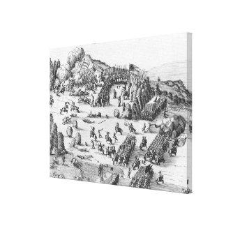 Vista general de la batalla de Muhlberg Impresion De Lienzo