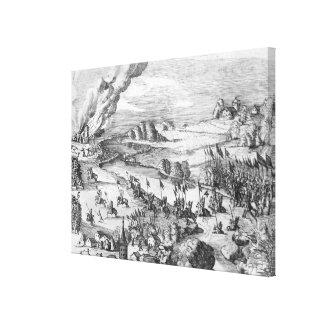 Vista general de la batalla de Muhlberg Impresiones En Lona