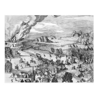 Vista general de la batalla de Muhlberg Postal