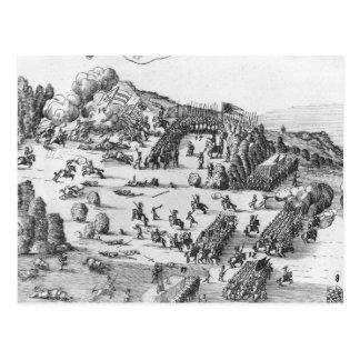 Vista general de la batalla de Muhlberg Postales