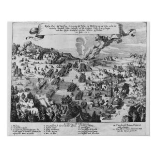 Vista general de la batalla de Muhlberg Póster