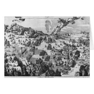 Vista general de la batalla de Muhlberg Tarjeta De Felicitación