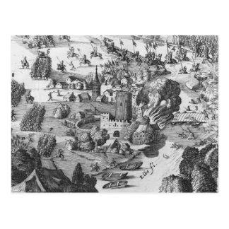Vista general de la batalla de Muhlberg Tarjetas Postales