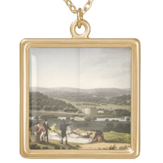 Vista general de Longleat de la colina de la persp Colgante Cuadrado