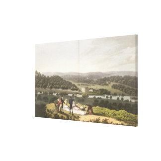 Vista general de Longleat de la colina de la persp Impresiones En Lienzo Estiradas