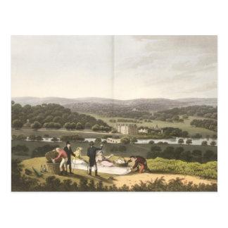 Vista general de Longleat de la colina de la persp Tarjetas Postales