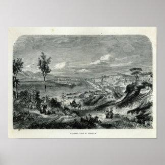 Vista general de Messina Posters