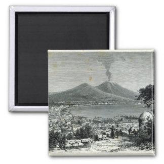 Vista general de Nápoles Imán Cuadrado