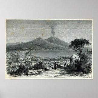 Vista general de Nápoles Poster