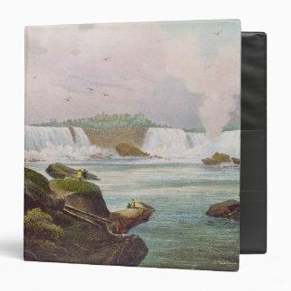 """Vista general de Niagara Falls del lado canadiense Carpeta 1 1/2"""""""