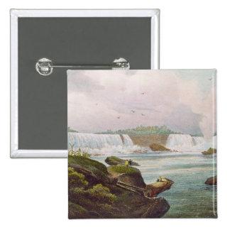 Vista general de Niagara Falls del lado canadiense Pin Cuadrado