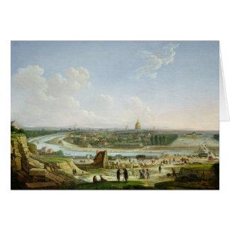 Vista general de París de la colina de Chaillot Tarjeta De Felicitación