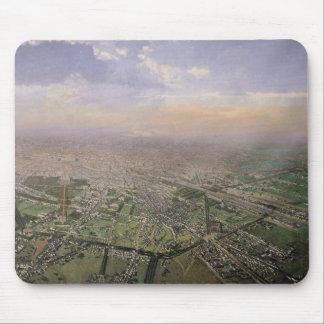Vista general de París de un globo de aire calient Alfombrillas De Raton