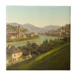 Vista general de Salzburg, Austria Azulejo Cuadrado Pequeño