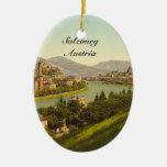 Vista general de Salzburg, Austria Adornos De Navidad