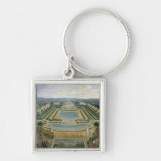 Vista general del castillo francés llavero personalizado