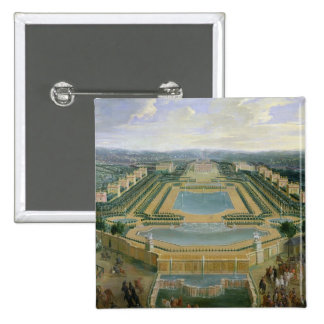 Vista general del castillo francés pin cuadrada 5 cm