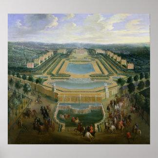 Vista general del castillo francés póster