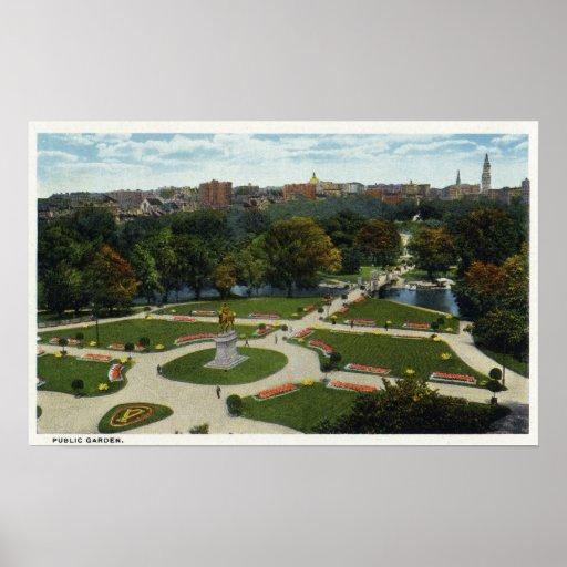 Vista general del jardín público posters