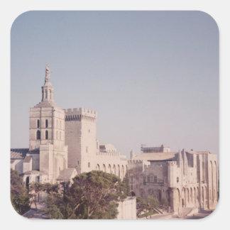Vista general del palacio pegatina cuadrada
