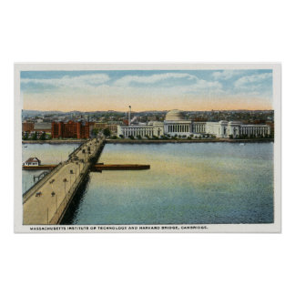 Vista general del puente del MIT y de Harvard, Póster